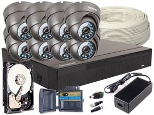 Zestaw 4w1, 8x Kamera FULL HD/IR20, Rejestrator 8ch, HDD 1TB