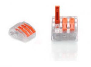 ZŁĄCZKA DO PRZEWODÓW ZATRZASKOWA 0,2-4,0mm2 PC233 3GNIAZDA 50szt.