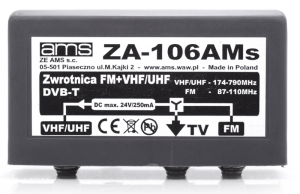 Zwrotnica antenowa AMS ZA-106AMs, FM/VHF+UHF
