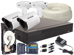 Zestaw 4w1, 2x KameraFULL HD/IR25, Rejestrator 4ch, HDD 1TB