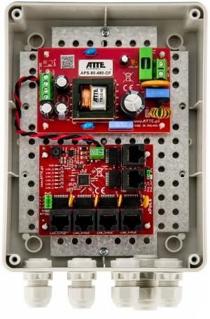 SWITCH 5-PORTOWY POE ATTE IP-5-11-M2