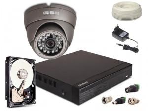 Zestaw AHD, 1x Kamera HD/IR20, Rejestrator 4ch + 1TB