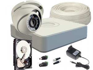 ZESTAW HD-TVI 1 x KAMERA FULLHD, REJESTRATOR 4CH + 500GB