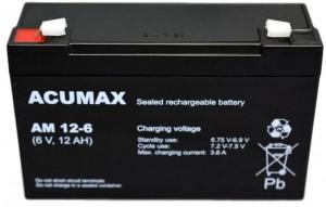 Akumulator ACUMAX 6V 12AH serii AM AM 12-6