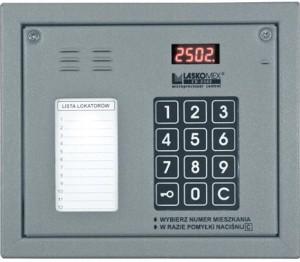 Laskomex CP-2502NR srebrny Panel audio z mini listą lokatorów i z czytnikiem kluczy RFID
