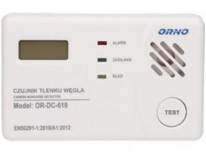 Czujnik czadu, tlenku węgla, ORNO OR-DC-619 TEST