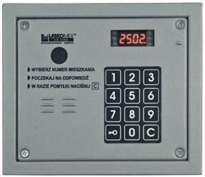 Laskomex CP-2503R srebrny Panel audio z czytnikiem kluczy RFID