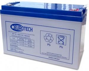 Akumulator AGM Eurotech 100Ah