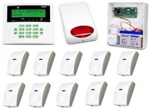 Alarm Satel CA-10 LCD, 10xBINGO, syg. zew. SPL-5010