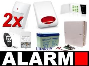 Zestaw alarmowy Satel Micra, LED, Pilot, 2 Czujki bezprzewodowe, Sygnalizator zewnętrzny