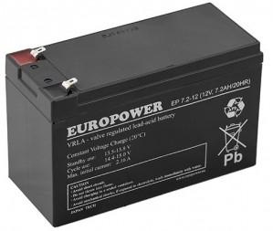 Akumulator EUROPOWER serii EP 12V 7,2Ah (Żywotność 6-9lat)