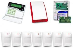 Alarm Satel CA-10 LCD, GPRS-A, 7xAqua Plus, syg. zew. SP-4001