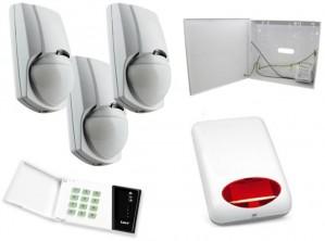 Alarm Satel CA-4 LED, 3xLC-100 PI, syg. zew. SPL-5010R