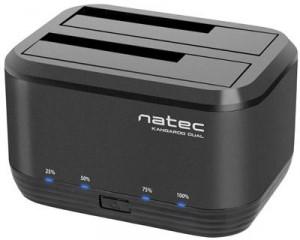 """STACJA DOKUJĄCA HDD NATEC KANGAROO DUAL 2.5""""/3,5"""" USB 3.0 + ZASILACZ"""