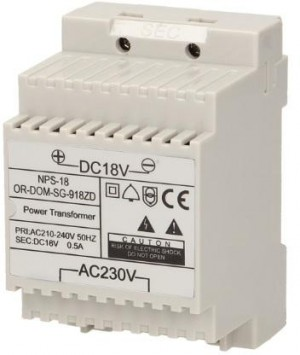 Zasilacz na szynę DIN 18V DC 0,5A ORNO OR-DOM-SG-918ZD do  SG-918, SL-924