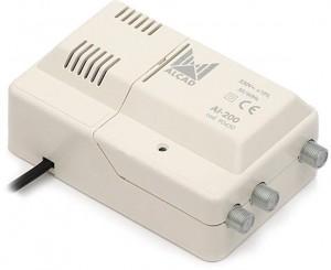 Wzmacniacz Alcad AI-200 VHF-UHF 1we/2wy szerokopasmowy