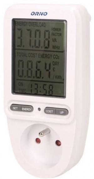 Watomierz licznik energii z wyświetlaczem do gniazdka ORNO OR-WAT-435