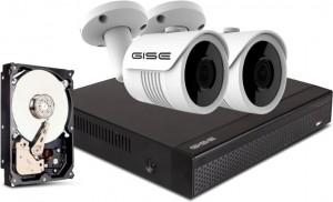 Zestaw 2x kamera 8mpx, rejestrator 4ch + 1TB