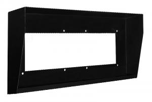 Laskomex DA-2H czarna Obudowa stalowa, natynkowa, dwu segmentowa pozioma