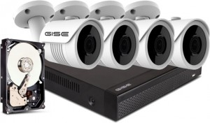 ZESTAW 4x kamera 8mpx, rejestrator 4ch + 1TB