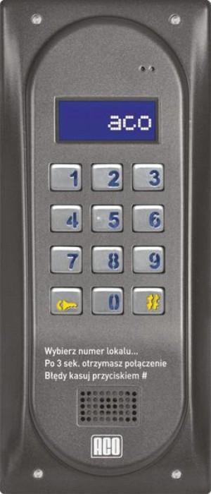 ACO CDNP6ACC GR CENTRALA DOMOFONOWA grzałka LCD. RFID MASTER