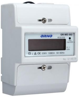 WSKAŹNIK ZUŻYCIA ENERGII ORNO OR-WE-502/OR-01Y