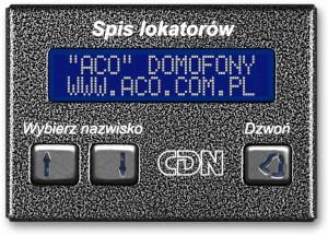ACO CDN-230E BR Elektroniczny spis lokatorów brąz