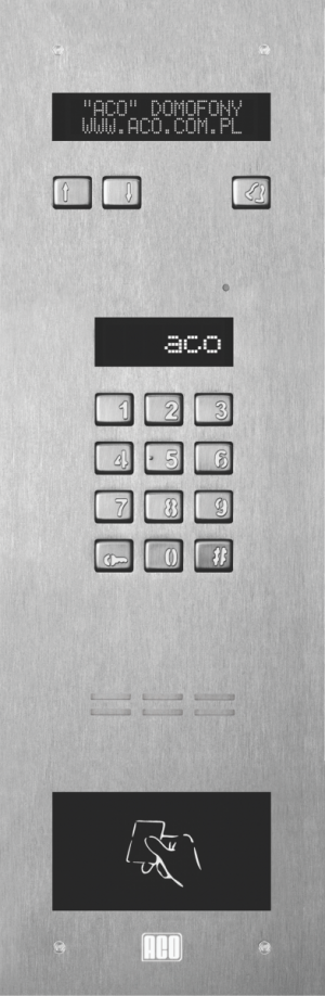 ACO INSPIRO 5+ Centrala Master, do 1020 lokali, LCD, RFID do 6144 breloków