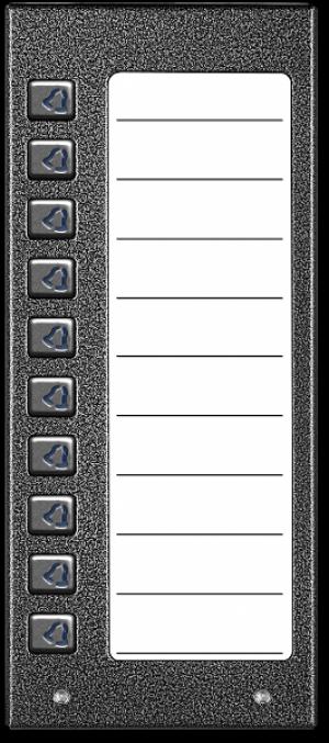 ACO CDN-10NP GR Podświetlany panel listy lokatorów z 10 przyciskami
