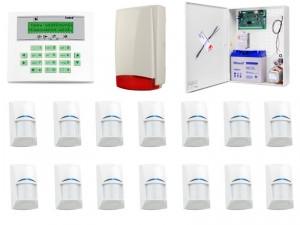 Zestaw alarmowy SATEL Integra 64 LCD, 14 czujek, sygnalizator zewnętrzny