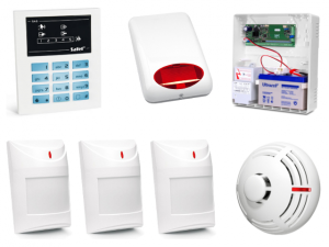 Alarm Satel CA-5 LED, 3xAqua Plus, TSD-1, syg. zew. SPL-5010