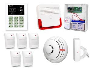 Alarm Satel CA-6 LED, 5xAqua Plus, FD-1, TSD-1, SD-6000