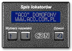 ACO CDN-230E GR Elektroniczny spis lokatorów grafit