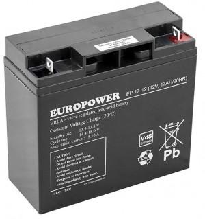 Akumulator EUROPOWER serii EP 12V 17Ah (Żywotność 6-9lat)