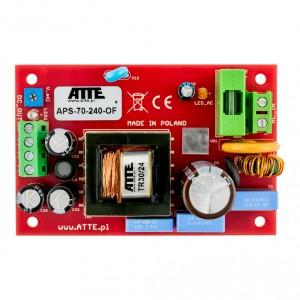 Zasilacz sieciowy SMPS 24V 3A 72W ATTE APS-70-240-OF