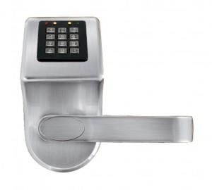 KLAMKA EURA ELH-70B9/SILVER z czytnikiem kart RFID i zamkiem szyfr. srebrny