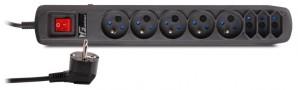 Listwa antyprzepięciowa Getfort 8A 1,5m Czarna
