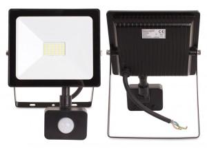 Naświetlacz LED 20W 1600 lm kwadratowy + czujnik ruchu PIR NEUTRALNE BIAŁE ŚWIATŁO