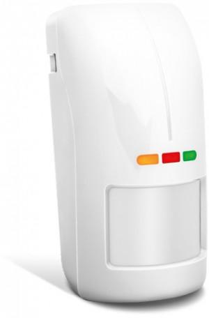 Zewnętrzny czujnik ruchu SATEL OPAL PLUS biała, czujnik zmierzchu, regulacja czułości, bez uchwytu.