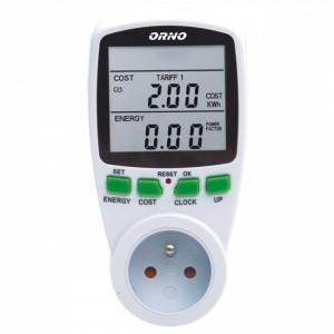 Watomierz licznik energii 2-taryfowy do gniazdka schuko ORNO OR-WAT-408 (GS)