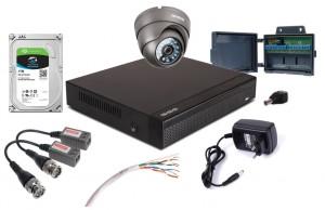 Zestaw 4w1, 1x Kamera FULL HD/IR20, Rejestrator 4ch, HDD 1TB