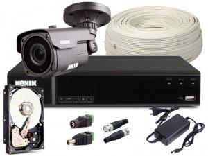 Zestaw CCTV, 1x Kamera HD/IR40, Rejestrator 4k. + 1TB