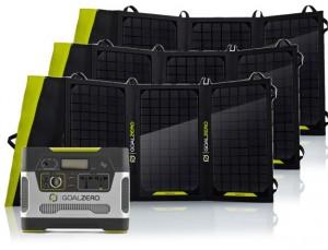 Zestaw solarny Goal Zero Yeti 400 EU universal version + Nomad 100