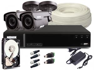 Zestaw CCTV, 2x Kamera HD/IR40, Rejestrator 4k. + 1TB