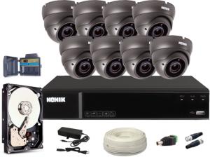 Zestaw CCTV, 8x Kamera FullHD/IR30, Rejestrator 8k. + 2TB