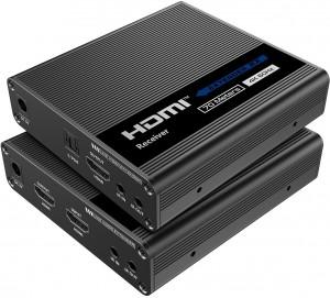 Konwerter HDMI na LAN 4K Spacetronik IP SPH-676E - zestaw