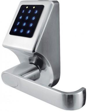 KLAMKA EURA ELH-80B9/SILVER z klawiaturą dotykową, sterowaniem SMS, czytnikiem Mifare, modułem Bluetooth