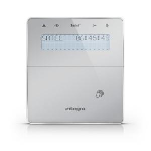 Manipulator bezprzewodowy z czytnikiem zbliżeniowym SATEL INT-KWRL2-SSW - dla systemów INTEGRA Srebrny