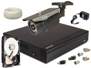 Zestaw AHD, 1x Kamera HD/IR35, Rejestrator 4ch + 1TB