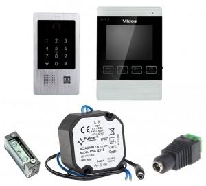 Wideodomofon VIDOS M904/S20DA, zaczep+zasilacz